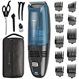 Remington HC6550 Cordless Vacuum Haircut Kit, Vacuum Beard Trimmer, Hair Clippers for Men (18 pieces)