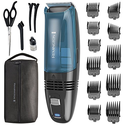 (Remington HC6550 Cordless Vacuum Haircut Kit, Vacuum Beard Trimmer, Hair Clippers for Men (18 pieces))