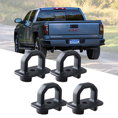 ROCCS 4X Tie Down Anchor Truck Bed Side Wall Anchors for 07-18 Chevy Silverdo/GMC Sierra,15-18 Chevy Colorado/GMC Canyon,Trucks Cargo