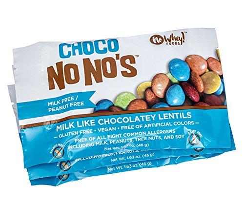 Chocolate ChocoNoNos (3 Pack) Naturally Colored, Vegan, Milk Free, Nut Free Chocolate Candy
