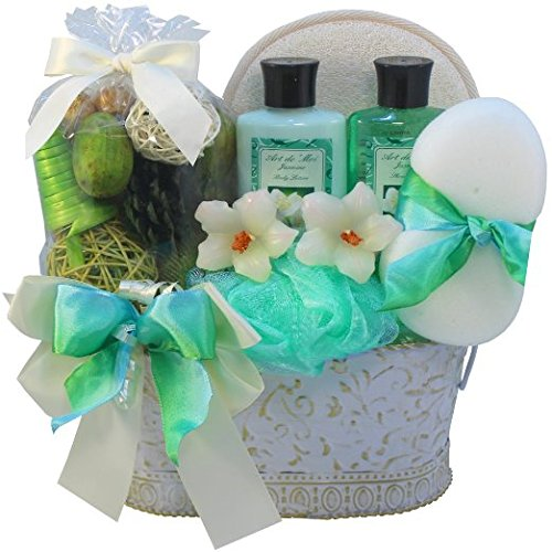 Renewal Package (Jasmine Renewal Spa Bath and Body Gift Basket Set, Medium)