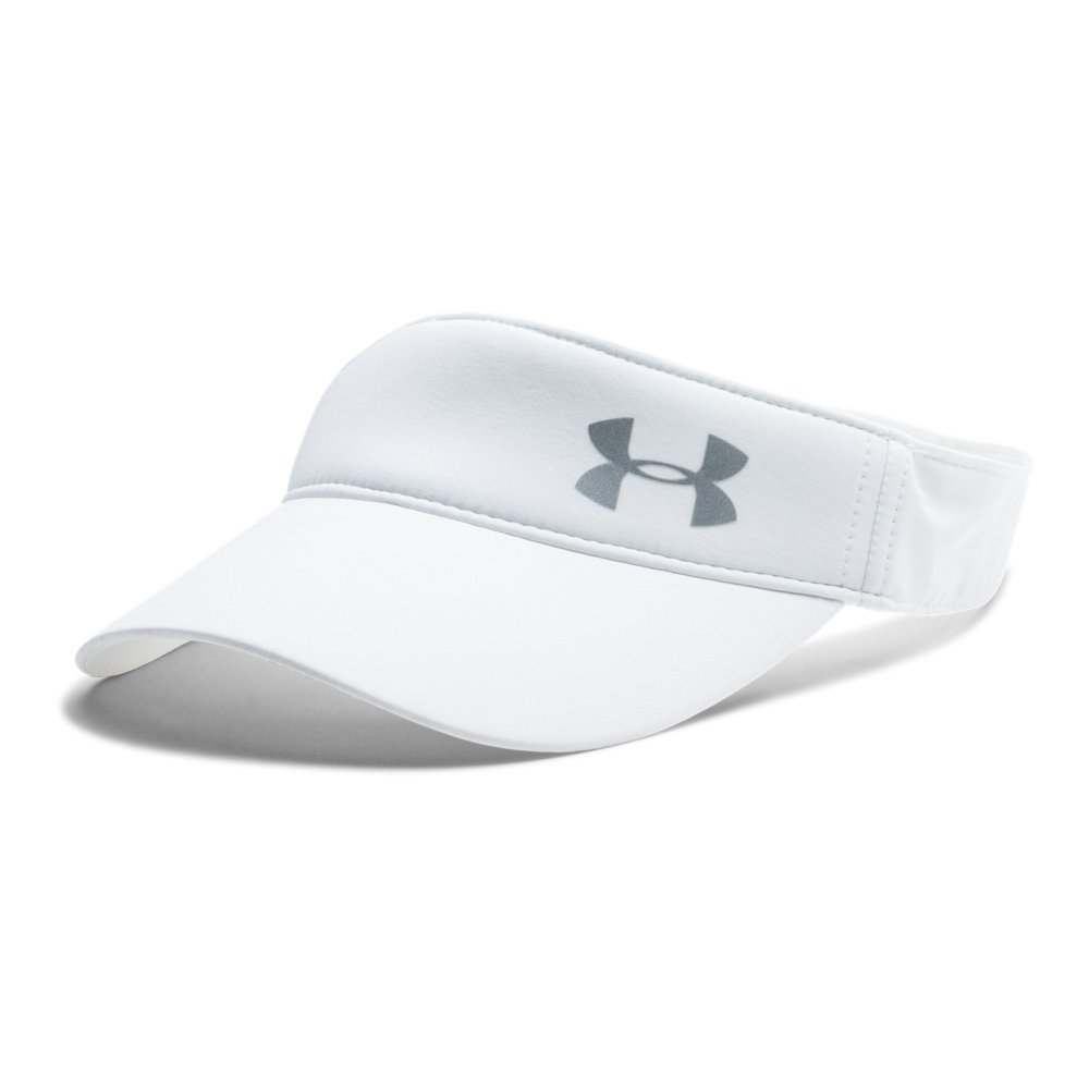 Under Armour Women's Fly Fast Visor, White (100)/Silver, One Size