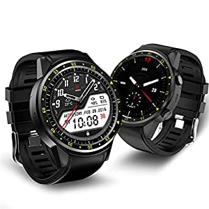 F1 Sport Smart Watch Waterproof !!! with Camera !!! GPS Bluetooth Smartwatch SIM Card Wristwatch for Android IOS Phone Wearable Devices, Black.