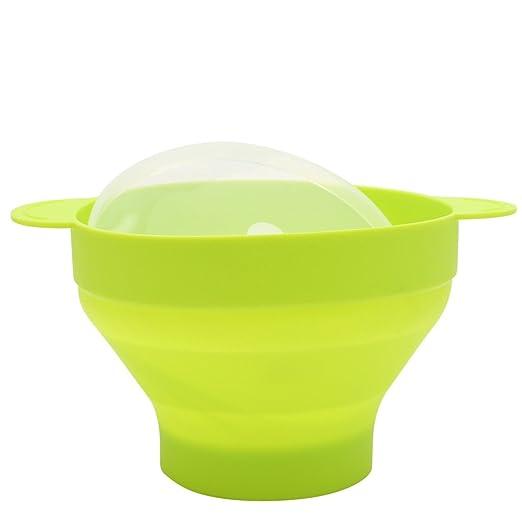 GROOMY Microondas Recipiente de Silicona Popcorn Popper BPA ...