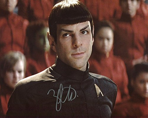 Zachary Quinto Signed / Autographed Star Trek 8x10 glossy photo portraying Spock. Includes FANEXPO Certificate of Authenticity and Proof. Entertainment Autograph Original.