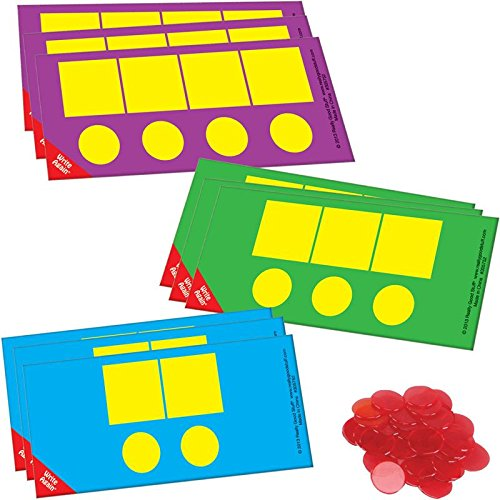 Really Good Stuff EZread Sound Box Mats and Chips - Research-Based Resource - with 18 Dry Erase Mats and 60 Chips for up to 6 Students at a Time - Teach Students to Map Sound Patterns