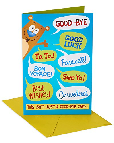 American Greetings Funny Packable Hug Goodbye Congratulations Card with Foil