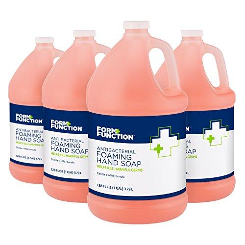 Form + Function Antibacterial Foaming Hand Soap, 1 gal, 4-Pack (Foam Gallon 1)