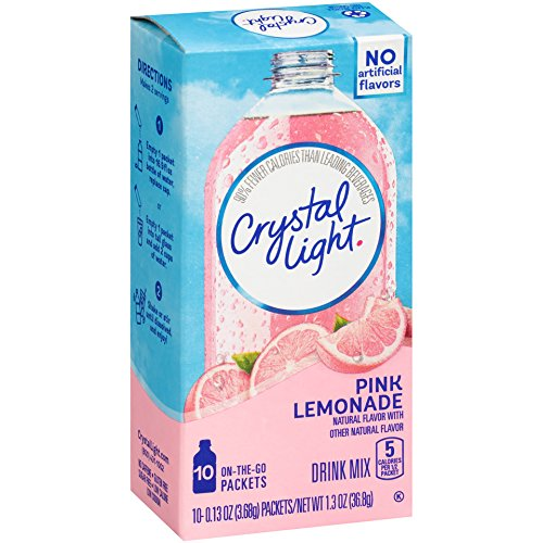 Crystal Light On The Go Pink Lemonade, 10-Count Boxes (Pack of 6) (10 Lemonade)