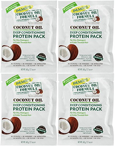 Palmers Coconut Oil Formula Deep Conditioning Protein Pack, 2.1 Oz (Oil Formula Hair Conditioner)