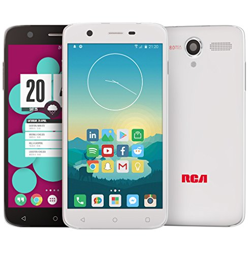 RCA Q1 4G LTE, 16GB, Unlocked Dual SIM Cell Phone, Android 6.0 - White by RCA (Image #4)