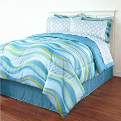 Blue Wave King Comforter Set (8 Piece Bed in a Bag) Beach House