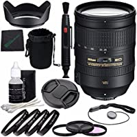 Nikon AF-S NIKKOR 28-300mm f/3.5-5.6G ED VR Lens + 77mm 3 Piece Filter Set (UV, CPL, FL) + 77mm +1 +2 +4 +10 Close-Up Macro Filter Set with Pouch + Lens Cap + Lens Hood + Lens Cleaning Pen Bundle
