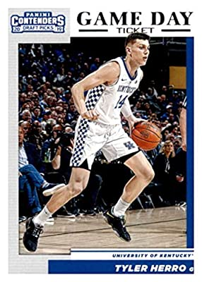2019-20 Panini Contenders Draft Picks Game Day Tickets #19 Tyler Herro Kentucky Wildcats Basketball Card