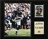 NFL Baltimore Ravens Justin Tucker Player Plaque, 12 x 15-Inch, Brown