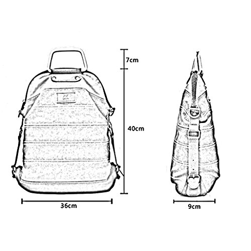 QIDI Rucksack Wasserdicht Reisen Freizeit Modisch Leinwand 40 * 36 * 9 Cm ( Farbe : Fashion stitching ) Retro Stitching
