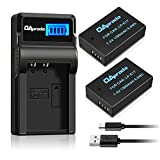 OAproda LP-E17 New Upgraded Battery (2-Pack) and Smart LCD Display USB Charger for Canon LPE17 and EOS Rebel T7i, T6i, T6s, SL2,EOS M6, M5, M3, 77D, 750D, 760D, 800D, 200D, 8000D, KISS X8i Cameras