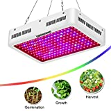 Lightimetunnel Led Grow Light,600w Full Spectrum Growing Light Fixtures for Greenhouse Hydroponic Indoor Plants Veg and Flower High Working Power
