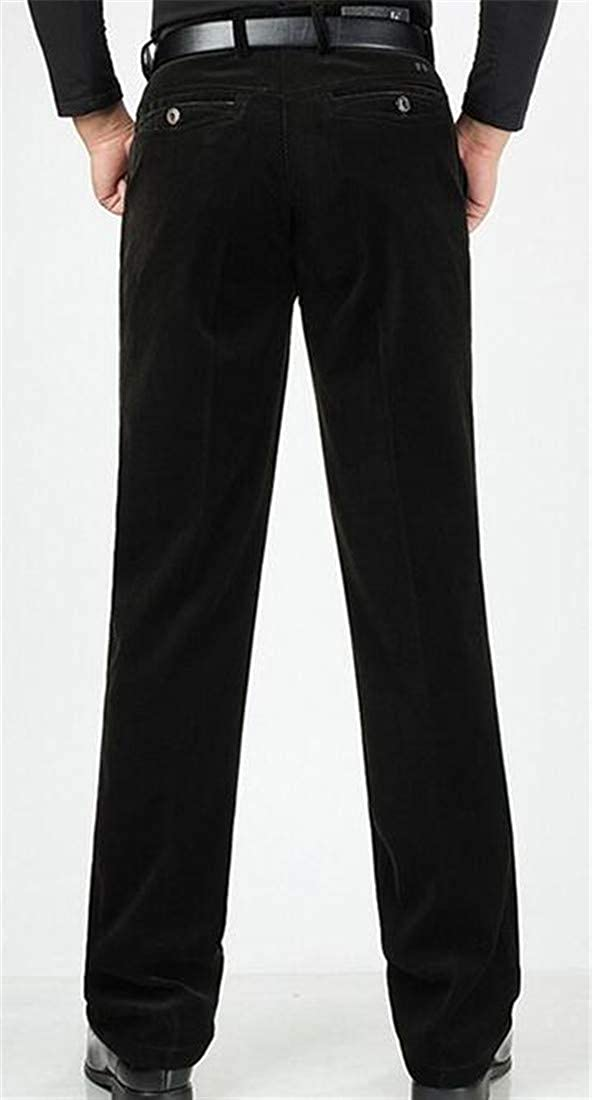 Cromoncent Men Fleece Winter Corduroy Straight Fit Work Big /& Tall Pants