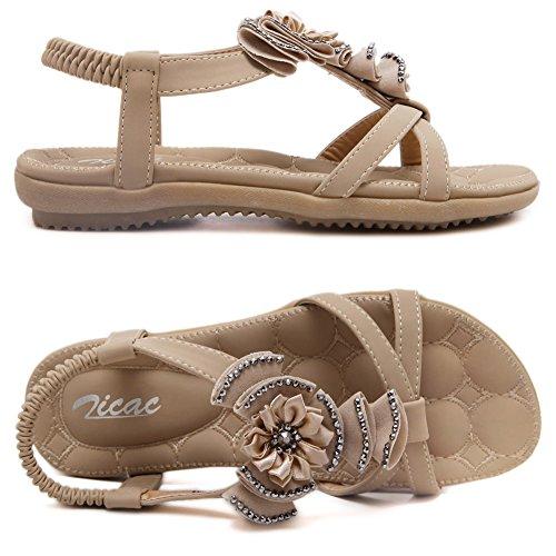 Zicac Women's Fashion Sandals apricot IqTu2j7sVD