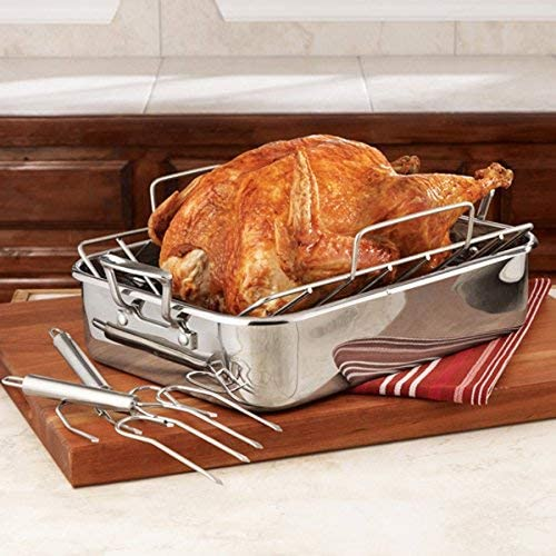 Durable Will Not Bend or Break,Set of 2 ipekar Stainless Steel Turkey Lifter Premium Poultry Lifters Turkey Claws
