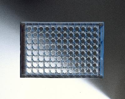 Corning 3798 Polystyrene Round Bottom 96 Well Clear Microplate, Without Lid, Not Treated (Case of 100) ()