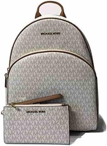 b77643871643 MICHAEL Michael Kors Abbey Large Backpack bundled with Michael Kors Jet Set  Travel Double Zip Wallet