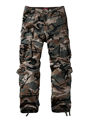 Match Men's Wild Cargo Pants(36,Grayish Green max)