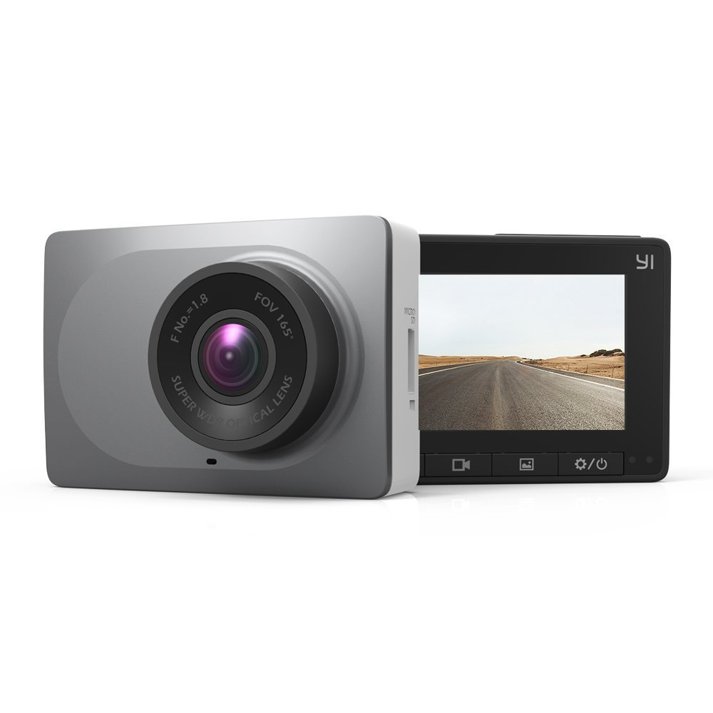 YI 2.7'' Screen Full HD 1080P60 165 Wide Angle Dashboard Camera, Car DVR Vehicle Dash Cam with G-Sensor, WDR, Loop Recording, Grey