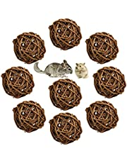 9 Pcs Natural Willow Branch Ball for Small Animals, Rabbit Chew Toys Guinea Pig Toys Bird Chew Toy for Rabbits Chinchilla Hamsters Guinea Pigs Gerbils Parrot (2.36 Inch)
