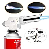 TENGYES Blow Torch Lighter Kitchen Butane Culinary Torch Chef Cooking Torch Professional Adjustable Flame Lighter with 360 Degree Inverted for Creme, Brulee, BBQ, Baking, Jewelry(Butane Not Included)