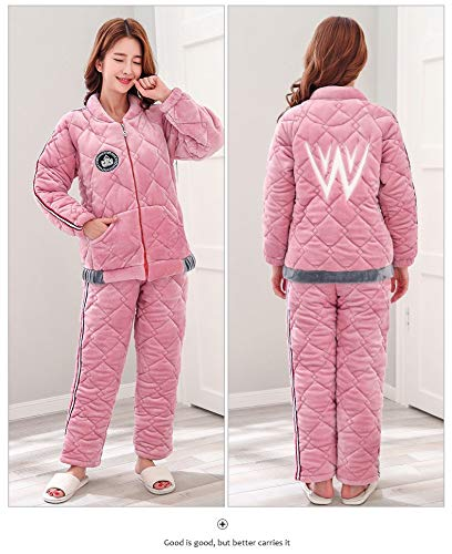 65 Winter Warm 57kg Quilted 47 Women's Autumn Coral And Suit Xxl164 Sports Pajamas Thick Three 75kg Fleece 164cm 172cm layer Zipper Service Home Pajamasx L158 xIPYHg
