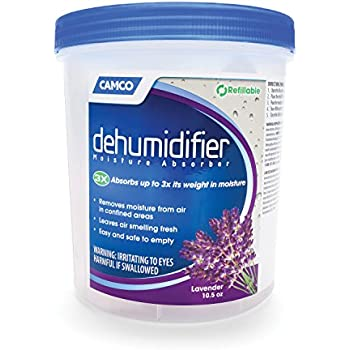 Camco Dehumidifier Moisture Absorber - Absorbs Up to 3x Its Weight in Water, Reduces Moisture and Humidity in Offices, Closets, Bathrooms, Kitchens, Boats, RVs and More - Refillable (44280)