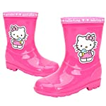 Joah Store Girls Pink Rain Boot Hello Kitty Ice Cream Shoes (Parallel Import/Generic Product)