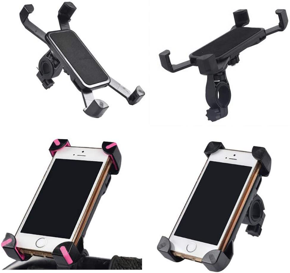 1pcs Bicycle Accessories Handlebar Clip Mount Bracket Mobile Phone Bike Holder Stand for iPhone 4 4S 5 5s 6 6s Plus Mobile Phone Holder Cell Phone Stand BLWX Color : Pink
