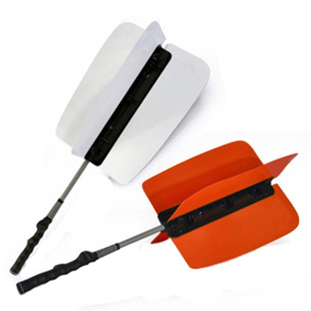 ゴルフ用Crestgolfパワーレジスタンストレーナー79cmx32.5cm、ゴルフ風車スイングパワーファントレーナー練習用トレーニングエイド、2本入り、2色、黄色と白の混合   B01D8LEZHG
