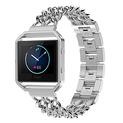 Simpeak Fitbit Blaze Bands with Frame , Simpeak Stainless St