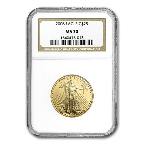 2006 1/2 oz Gold American Eagle MS-70 NGC 1/2 OZ MS-70 NGC
