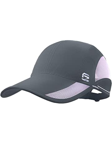 c1161203c09 GADIEMKENSD UPF 50+ Outdoor Hat Folding Reflective Running Cap Unstructured  Sport Hats for Men