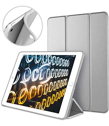 DTTO iPad Mini Case for iPad Mini 3/2 / 1, Ultra Slim Lightweight Smart Case Trifold Cover Stand with Flexible Soft TPU Back Cover for iPad Apple Mini, Mini 2, Mini 3 [Auto Sleep/Wake](Space Grey)