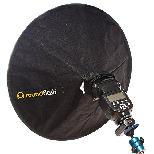 RoundFlash Beauty Dish Collapsible Softbox for Nikon, Canon, Sony, Pentax, Olympus, Panasonic Lumix, Neewer, Yongnuo External On-Camera Shoe-Mounted Flash Units by RoundFlash (Image #1)