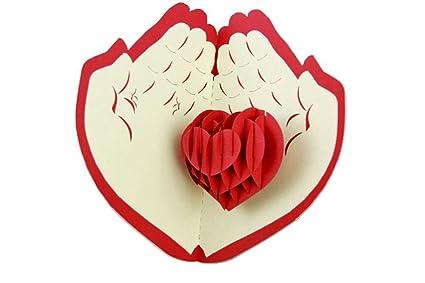 Amazon isharecards papercraft handmade 3d pop up greeting cards isharecards papercraft handmade 3d pop up greeting cards for valentinesbest gifts to express love m4hsunfo