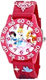 Disney Kids' W001510''Time Teacher'' 3D Disney Princess Watch With Pink Plastic Band