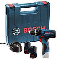 Bosch gsb 120, li professional 12v with 2 x 1.5 ah batteries with charger and carry case