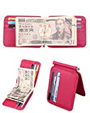Women Genuine Leather RFID Wallet (Pink)