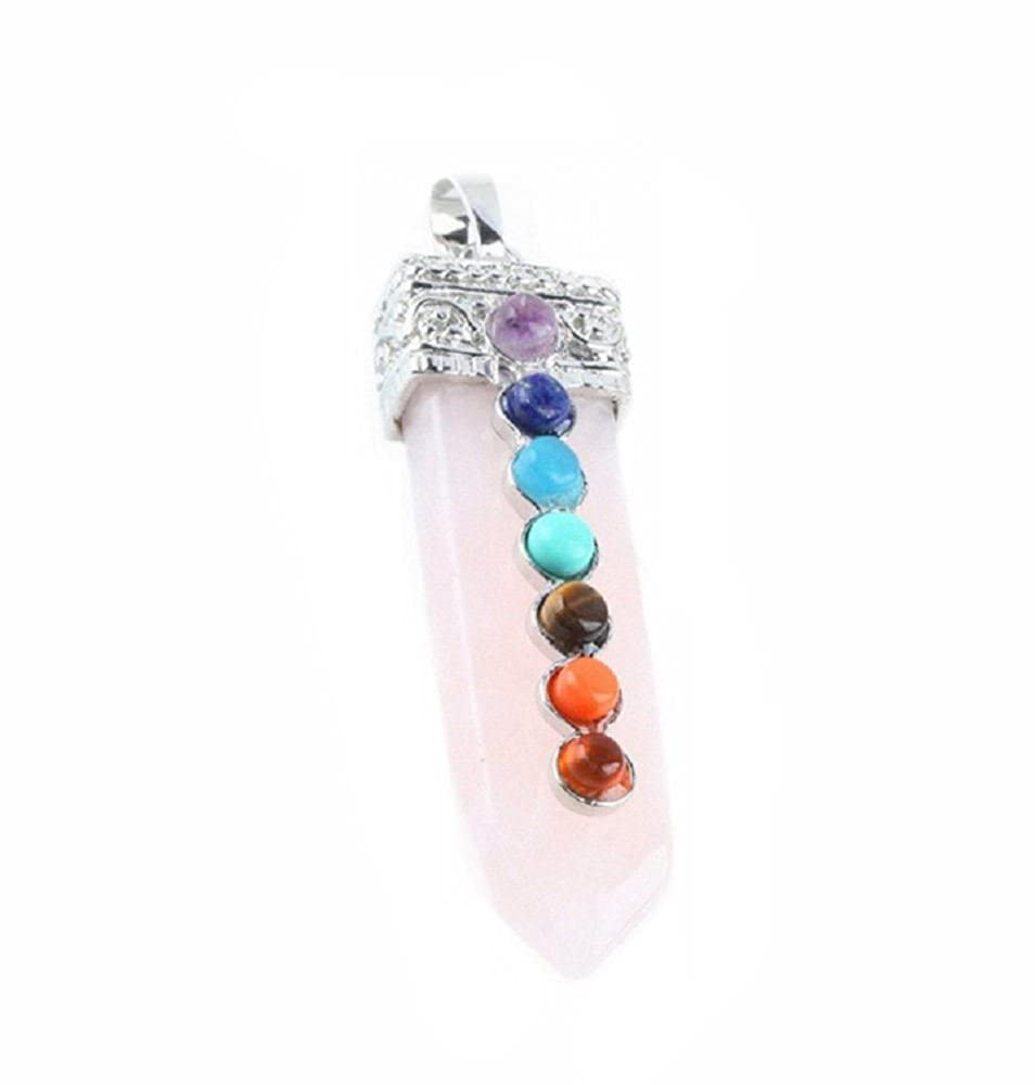 Deal Fashionista Gemstone 7 Chakra Healing Charm Pendant Bead Fit Necklace Jewelry