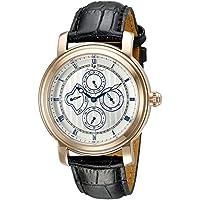 Lucien Piccard Men's 40009-RG-02S Valarta Analog Display Quartz Black Watch