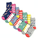Kids Girls Fashion Novelty Cotton Fun Crew socks 7 Pair Pack