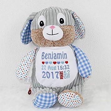 Cubbies Stofftier Teddy Hase Geschenk Mit Namen Personalisiert 40cm
