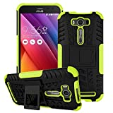 Asus Zenfone 2 Laser ZE500KL Case,Yaker Shockproof Impact Protection Tough Rugged Dual Layer Protective Case Cover with Kickstand for Asus Zenfone2 Laser 5.0 ZE500KL (Armor Green)